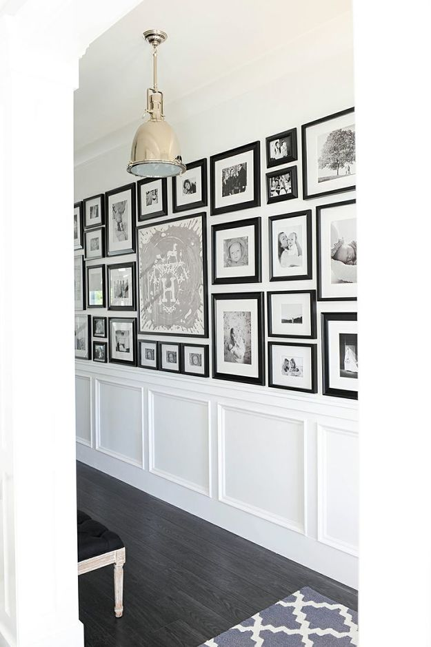 Picture Frames On The Wall In Hallway Photographs