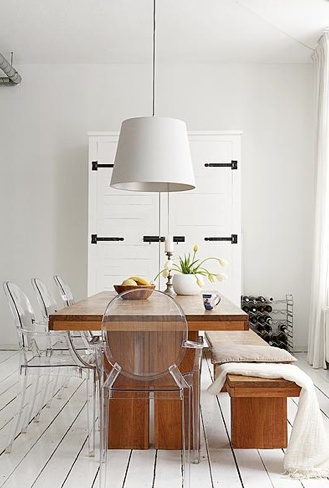 Dining Inspiration Using Ghost Chairs From My Pinterest Board Dining.